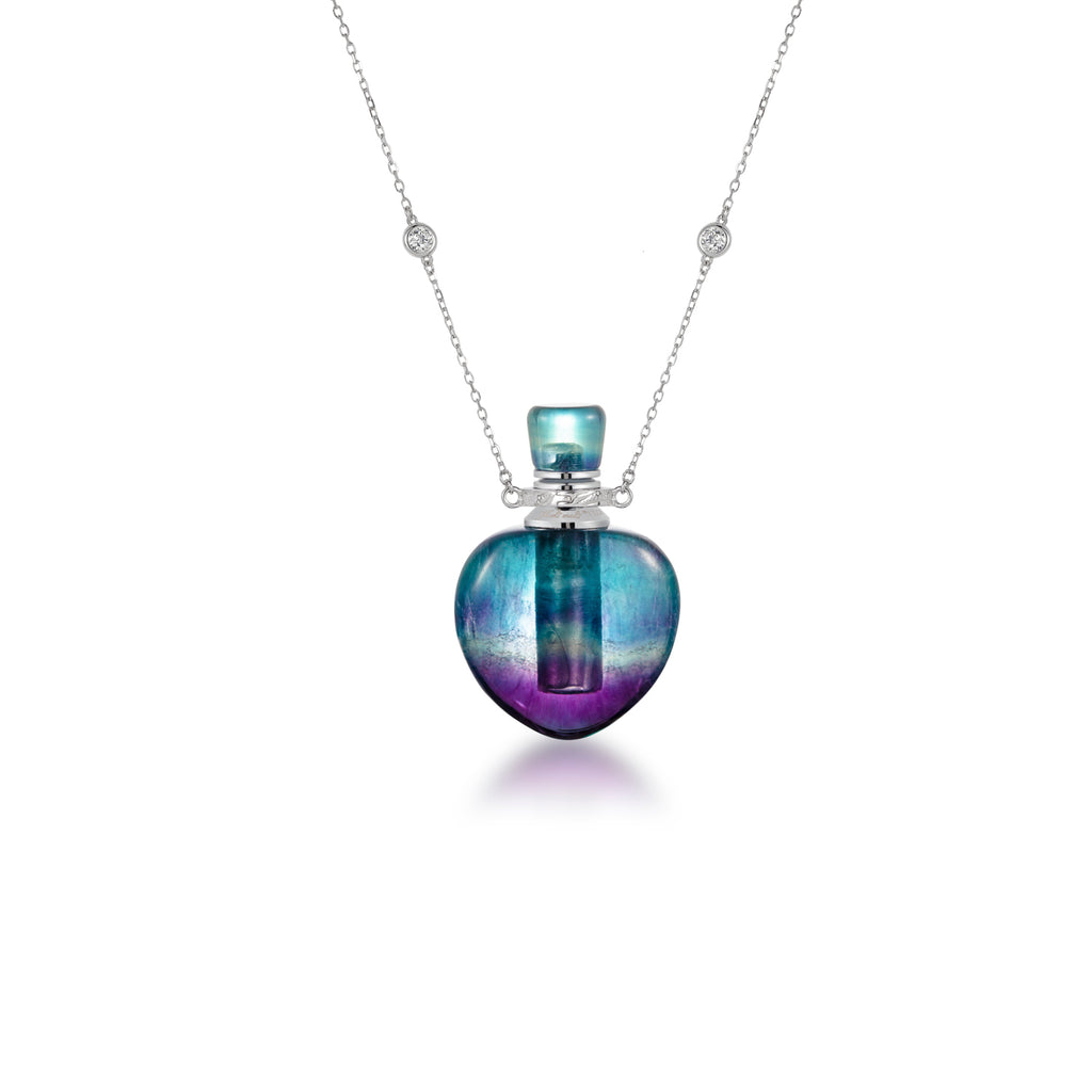 OBJET | Purple Fluorite Sterling Silver Necklace