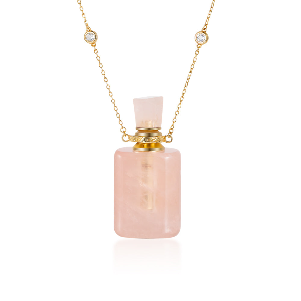 REDOLENT | Rose Quartz Gold Plated Necklace
