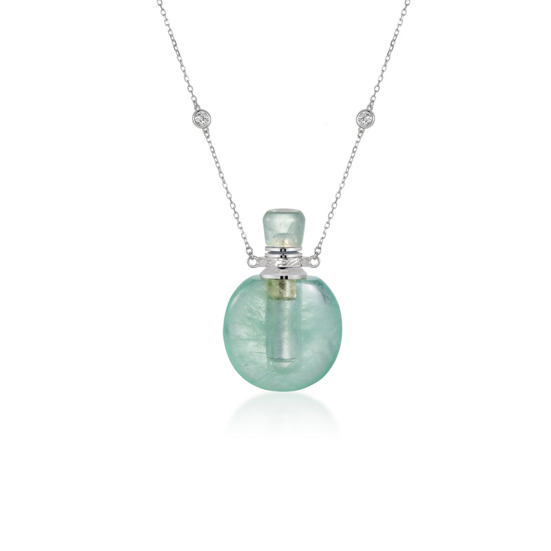 JOIE | Green Fluorite Sterling Silver Necklace