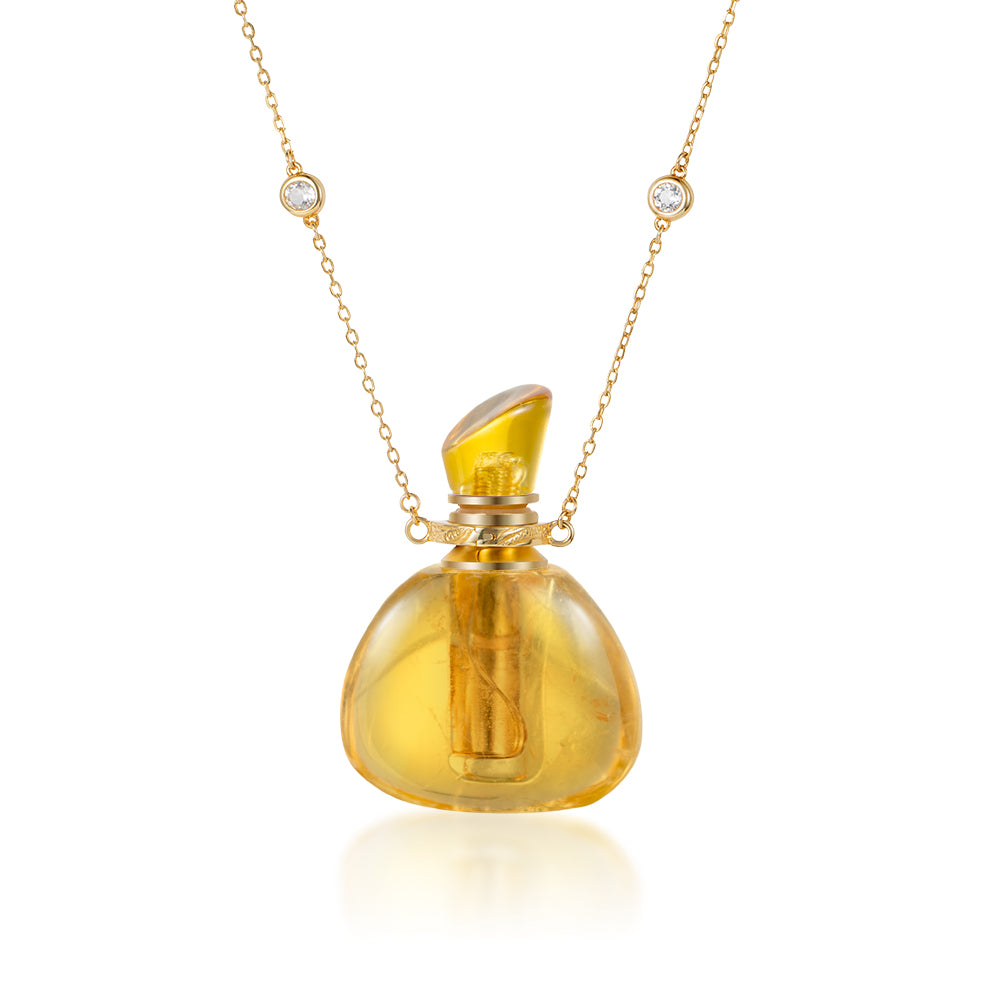 ILOIS | Citrine Gold Plated Necklace