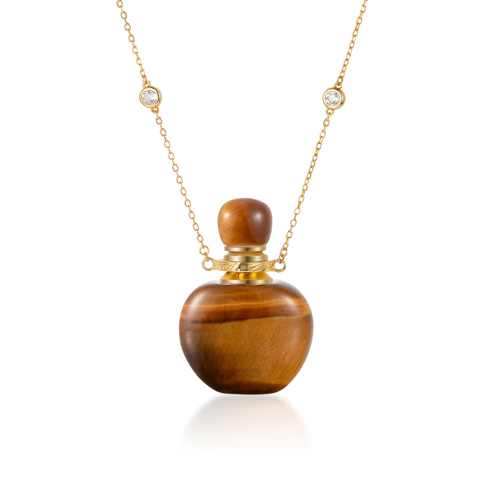 SEQUIN | Yellow Tiger Eye Gold Plated Necklace
