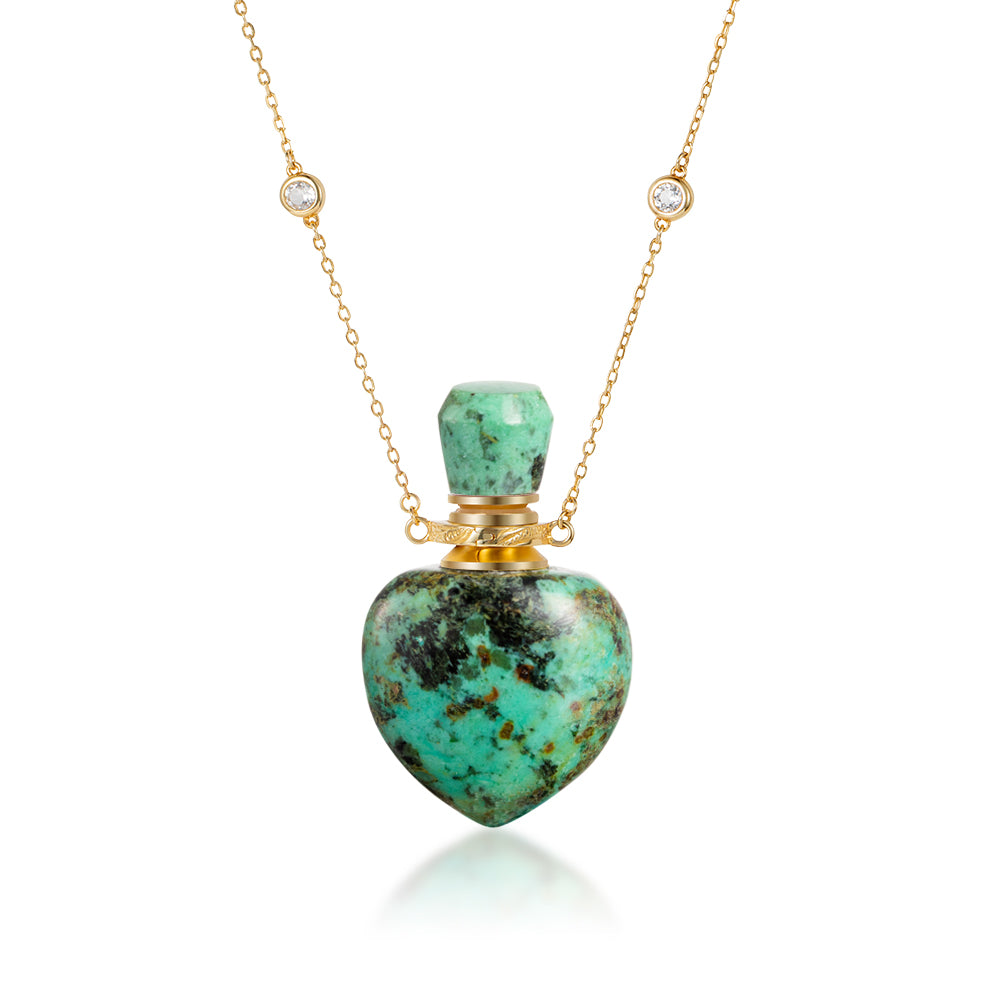 EVOLVE | African Turquoise Gold Plated Necklace