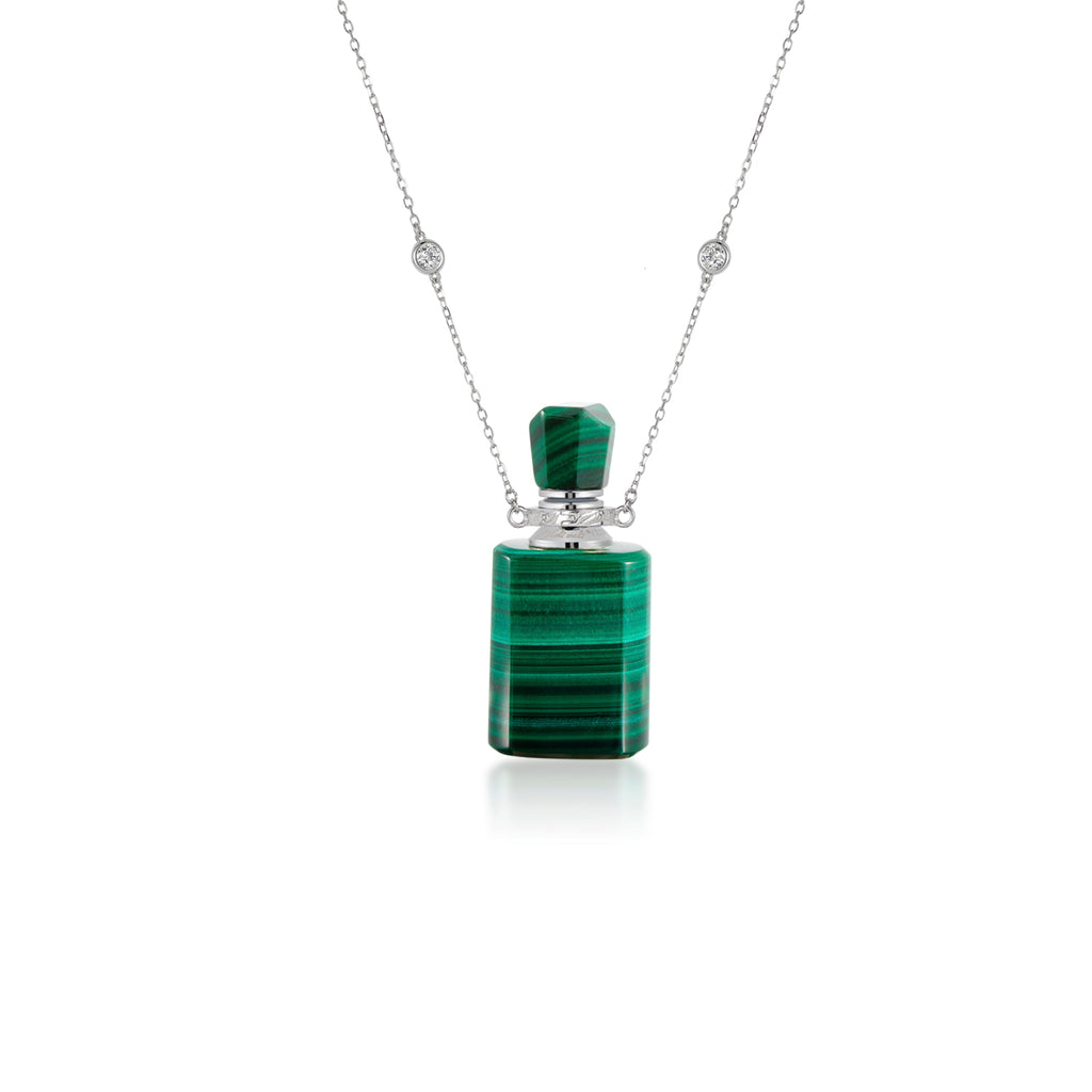 EPHEMERAL | Malachite Sterling Silver Necklace