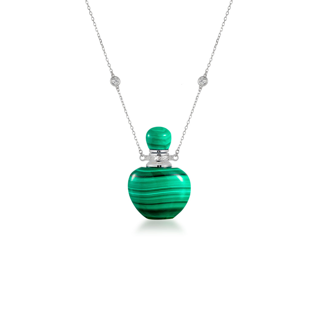 ROSEMARY | Malachite Sterling Silver Necklace