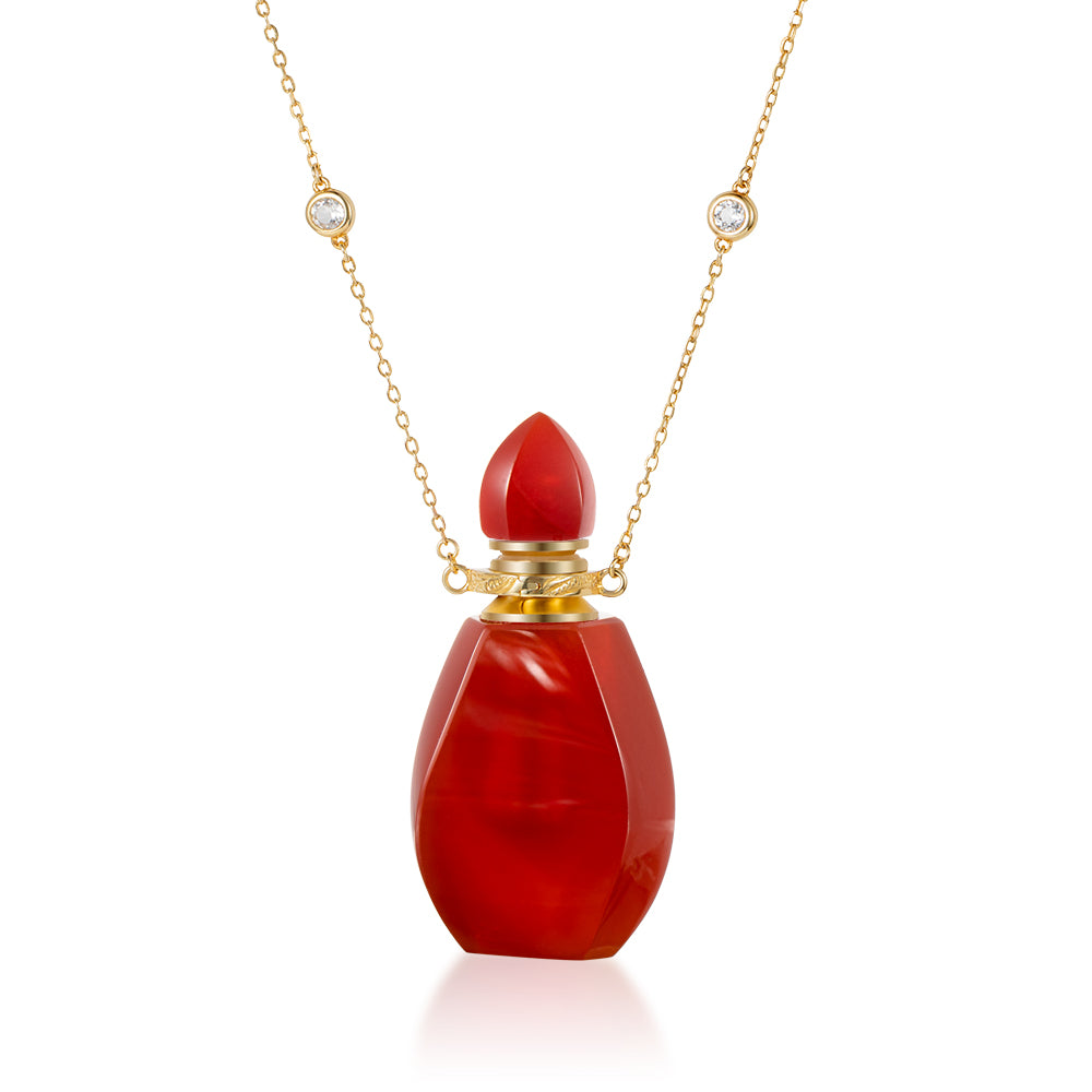 PALM | Carnelian Gold Plated Necklace