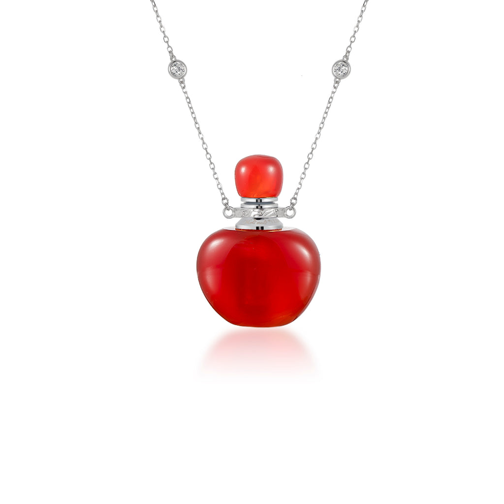 CHEER | Carnelian Sterling Silver Necklace