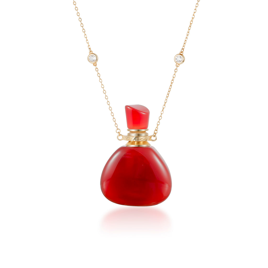 FIERY | Gold Plated Silver Carnelian Necklace