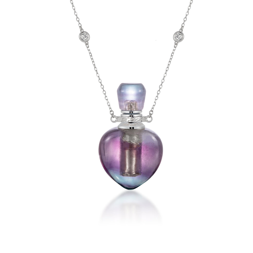 REVOKE  | Purple Fluorite Sterling Silver Necklace