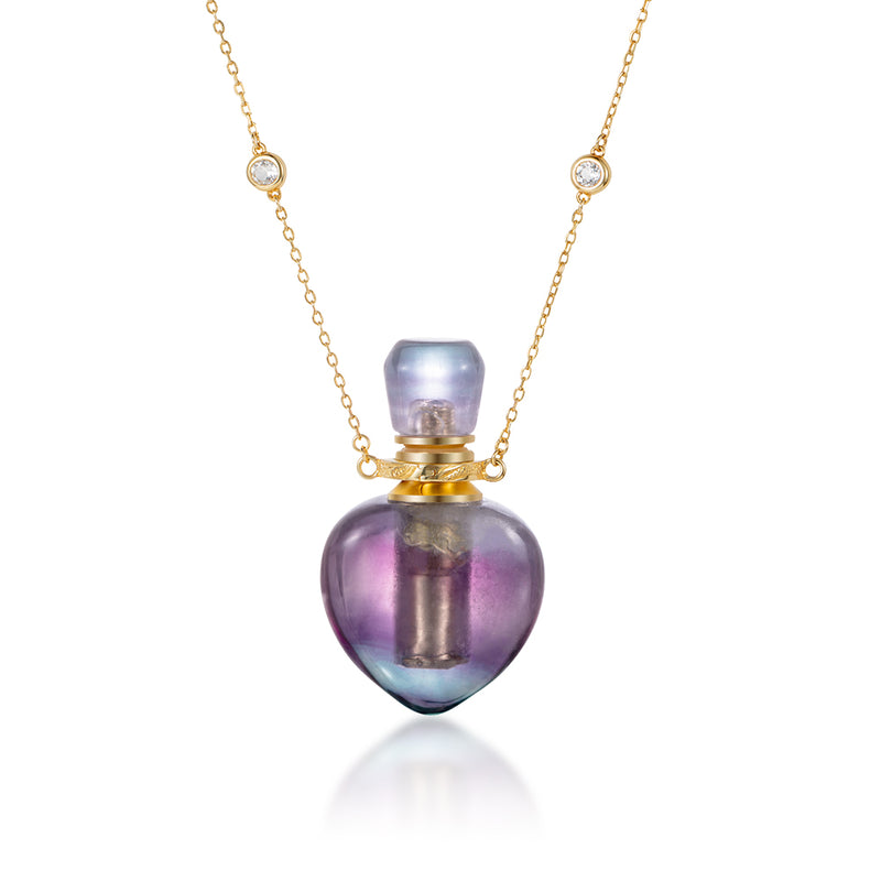 VIVID | Purple Fluorite Gold Plated Necklace