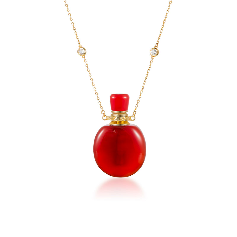 PULCHRITUDE | Carnelian Gold Plated Necklace