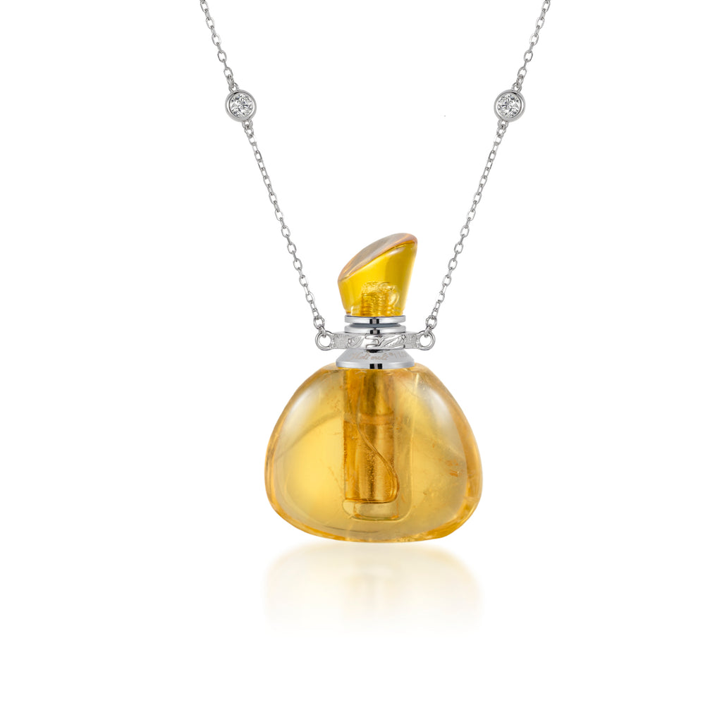 CHIMERA | Citrine Sterling Silver Necklace