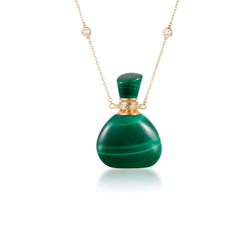 ACUITY | Gold Plated Necklace with Malachite Pendant