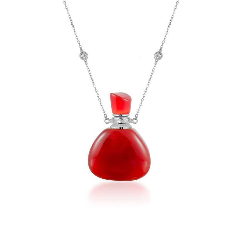 TINCT | Silver Plated Carnelian Necklace