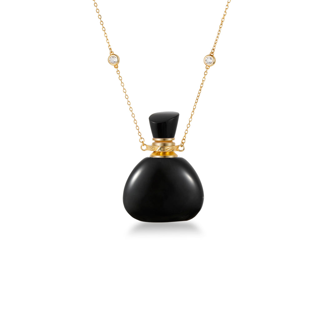 MIST | Rainbow Obsidian Gold Plated Necklace