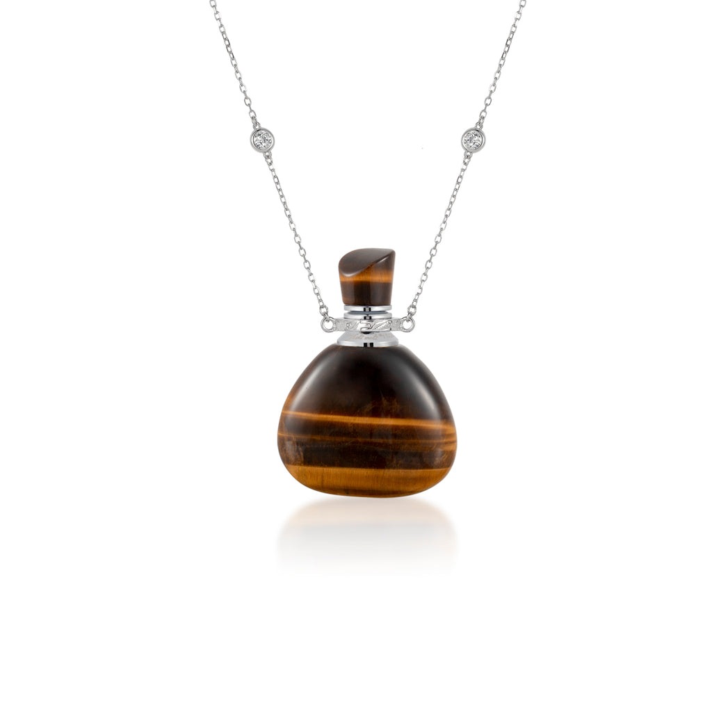 ARISE | Yellow Tiger Eye Sterling Silver Necklace