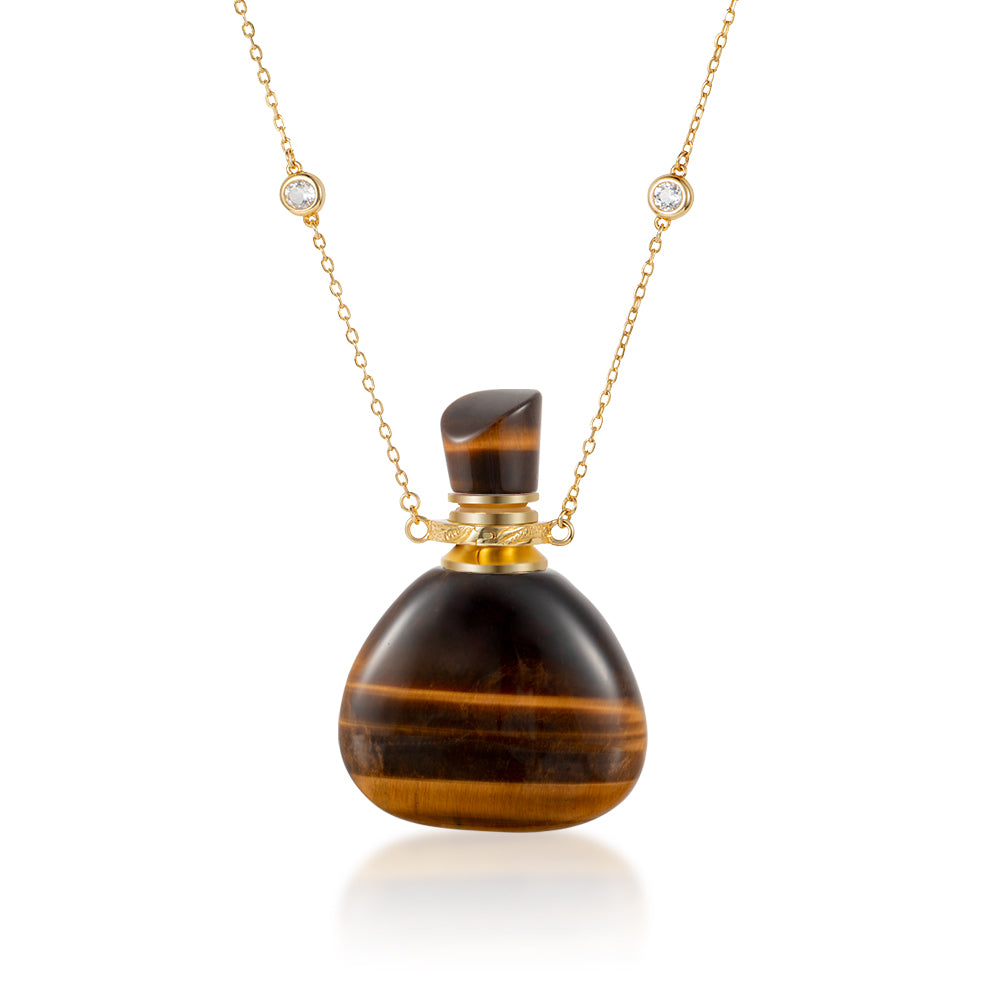 CHASTE | Yellow Tiger Eye Gold Plated Necklace