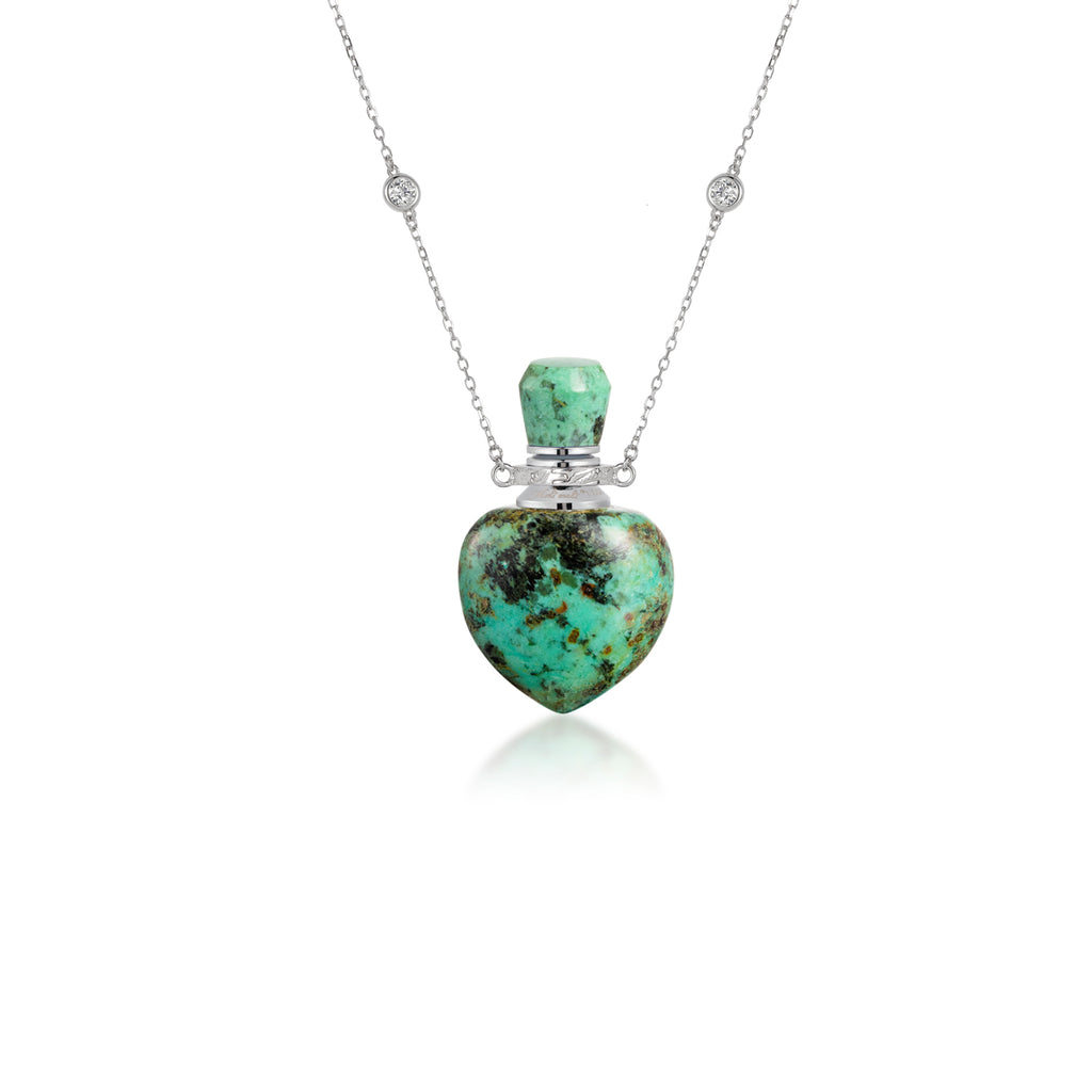 COY | African Turquoise Sterling Silver Necklace