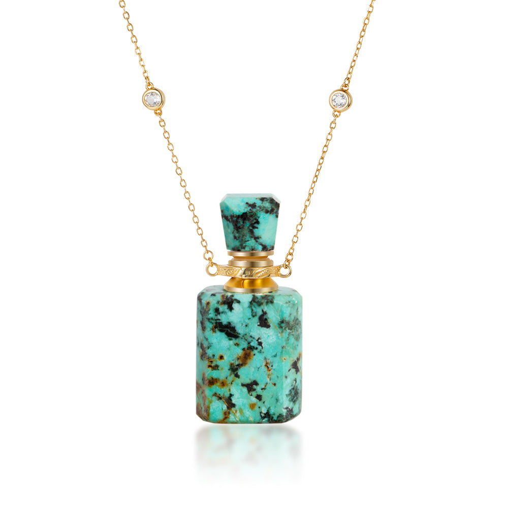 MERAK | African Turquoise Gold Plated Necklace