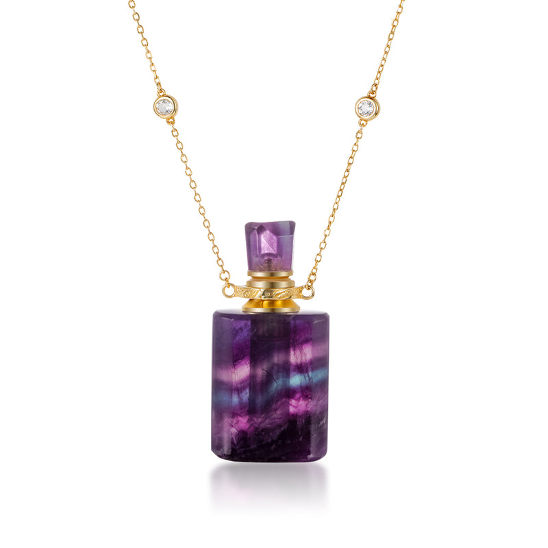 ELISION | Purple Fluorite Gold Plated Necklace
