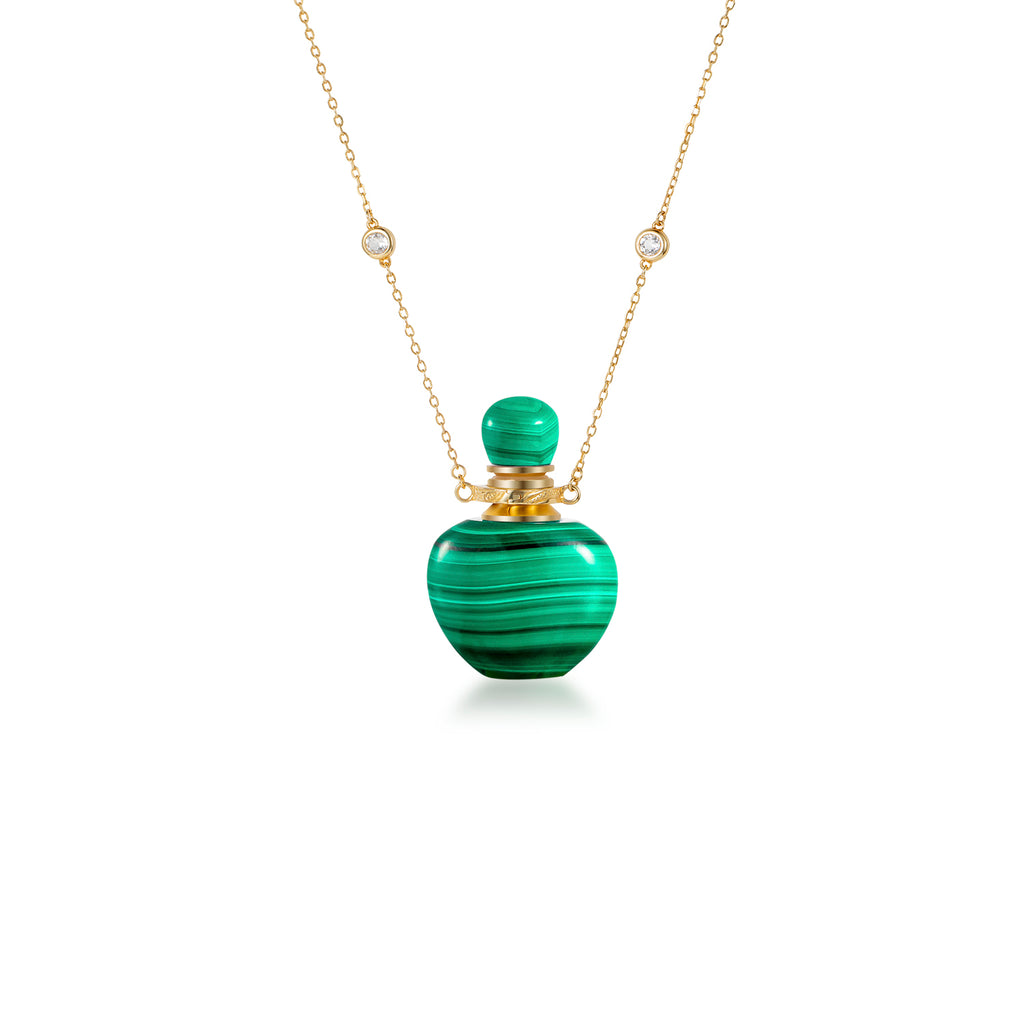 BUOYANCY | Malachite Gold Plated Necklace