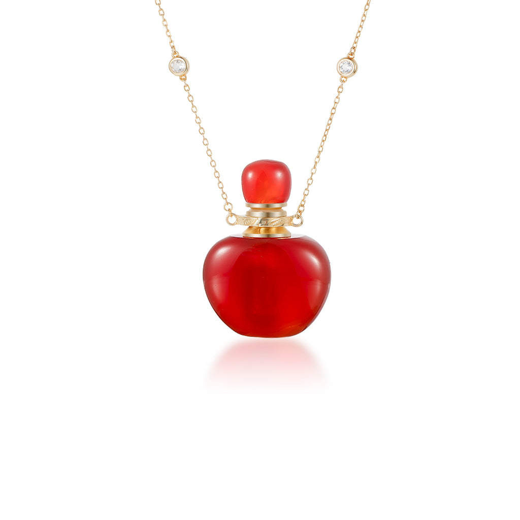 MARVEL | Carnelian Gold Plated Necklace