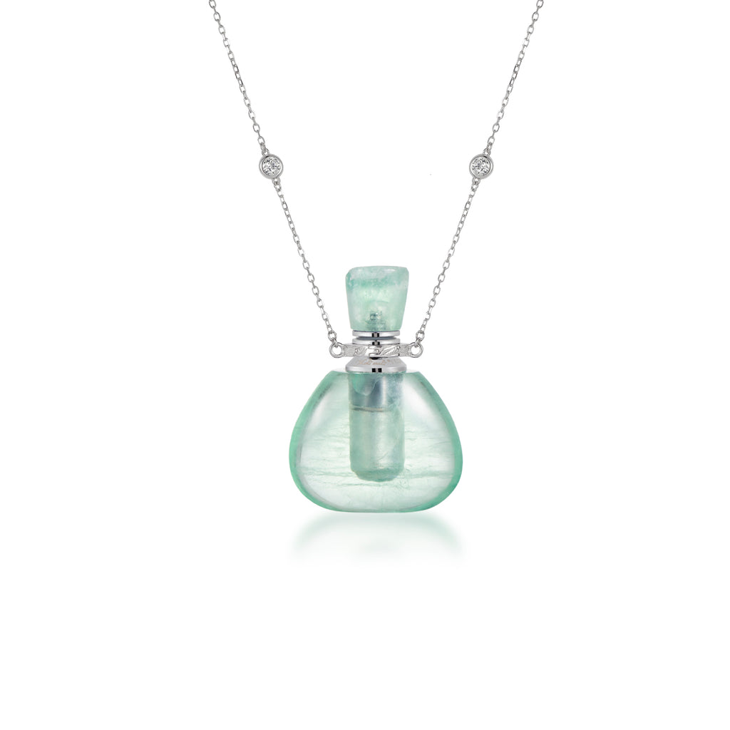 CURE | Green Fluorite Sterling Silver Necklace