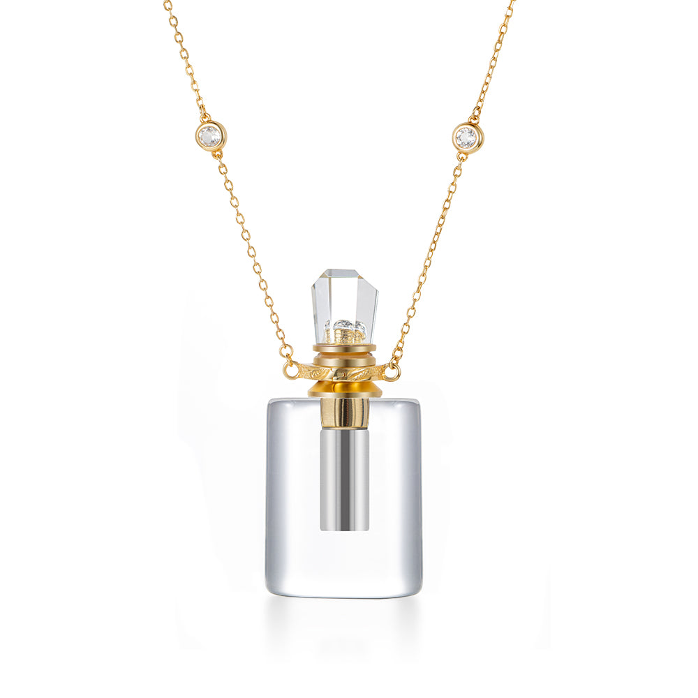 SEREIN | Clear Quartz Gold Plated Necklace
