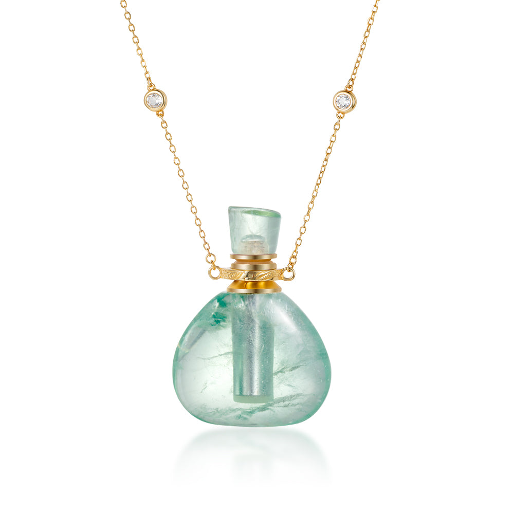 REVIVAL | Green Fluorite Gold Plated Necklace