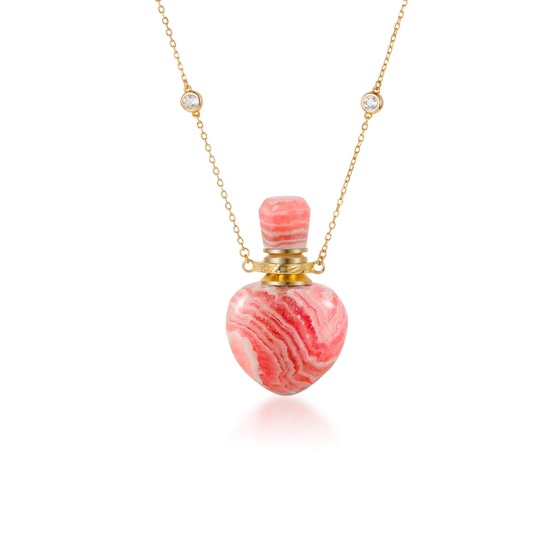 ROSA | Rhodochrosite Gold Plated Necklace