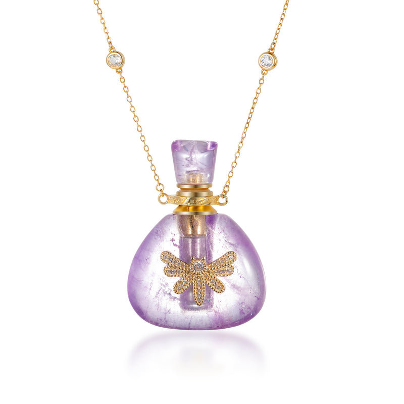 HUE | Amethyst Gold Plated Necklace