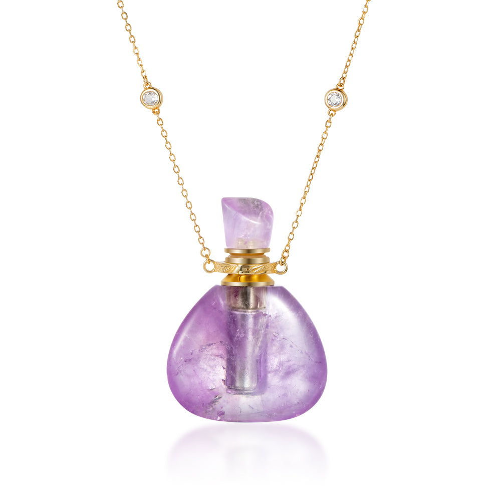 FLAIR | Amethyst Gold Plated Necklace