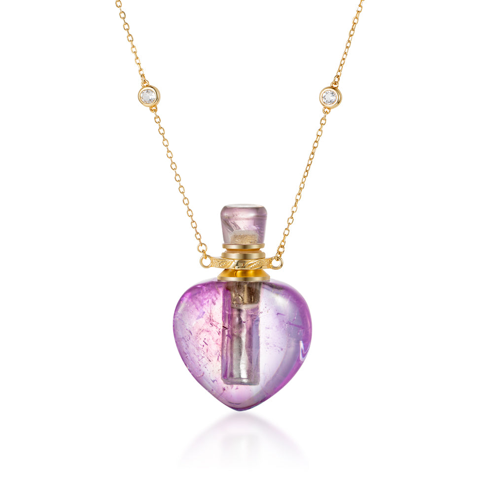 EMBLEM | Amethyst Gold Plated Necklace