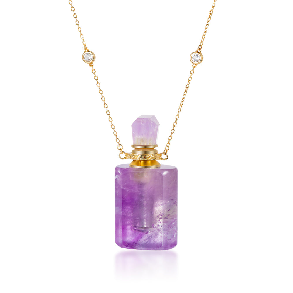 CASCADE | Amethyst Gold Plated Necklace