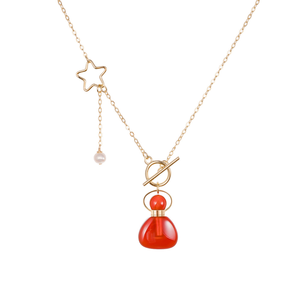 GERENT| Carnelian Sterling Silver Pendant