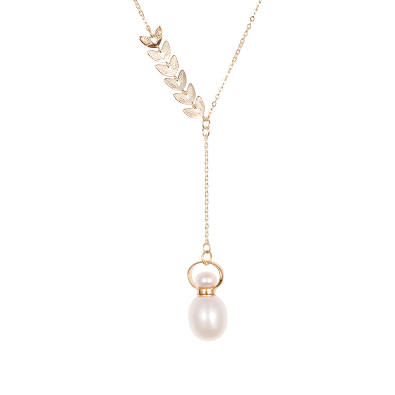 MUNIFICENT | Pearl Gold Plated Necklace