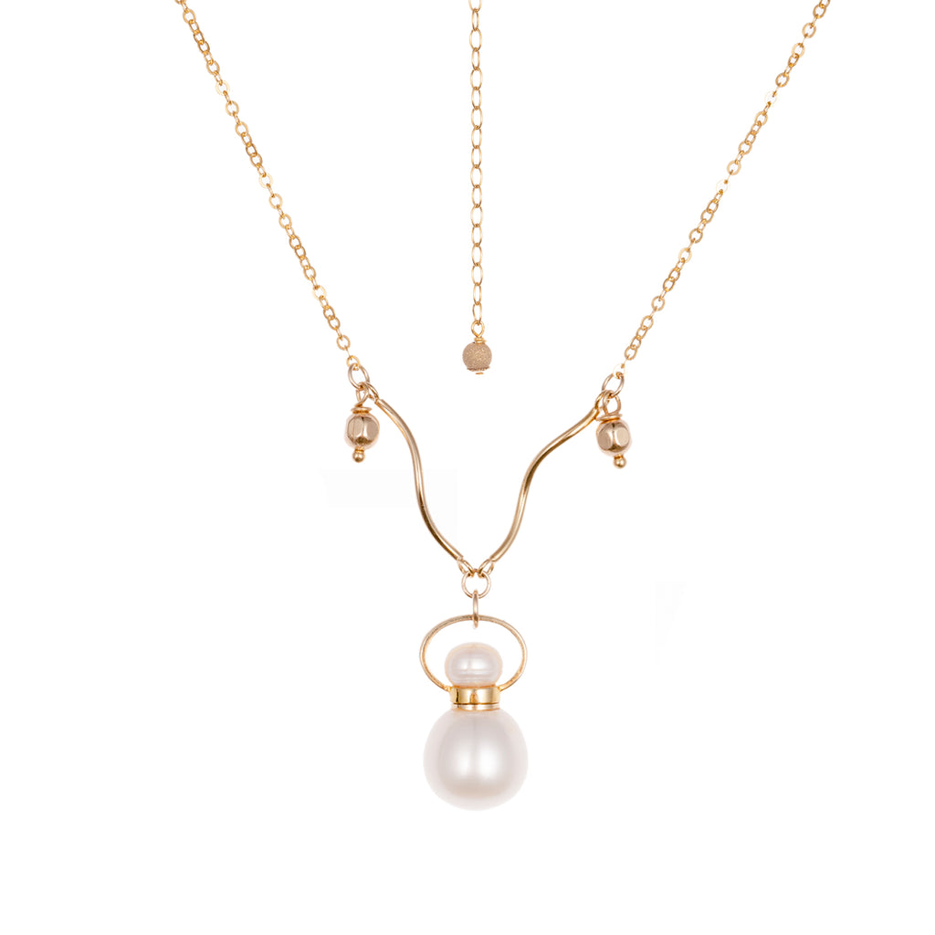 BARON | Pearl Gold Plated Necklace