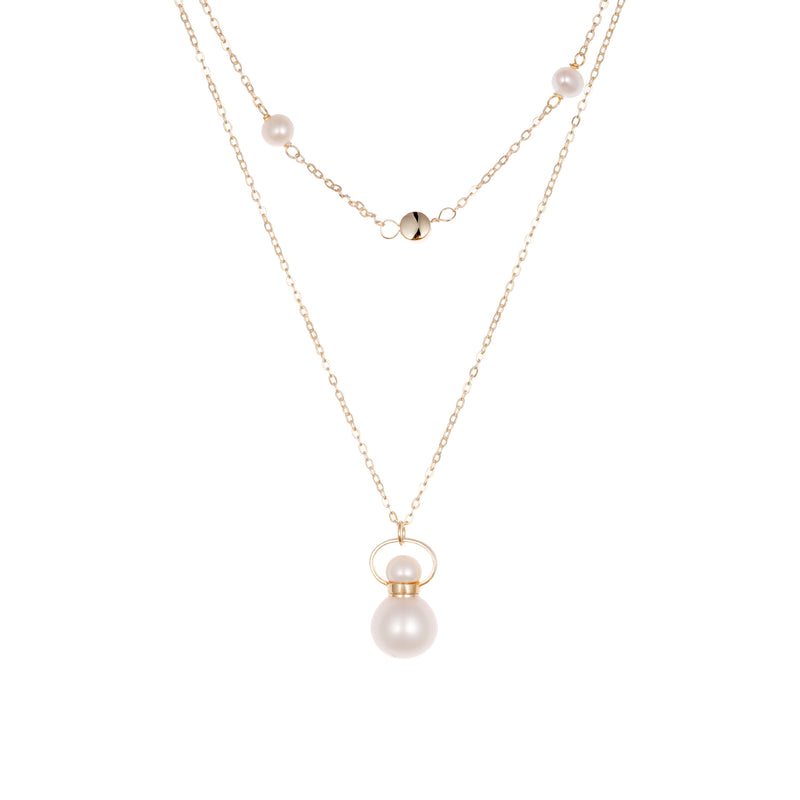 TITANIC | Pearl Gold Plated Necklace