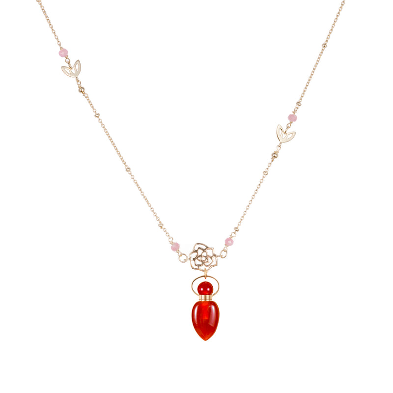 FORTUNA | Carnelian Sterling Silver Necklace