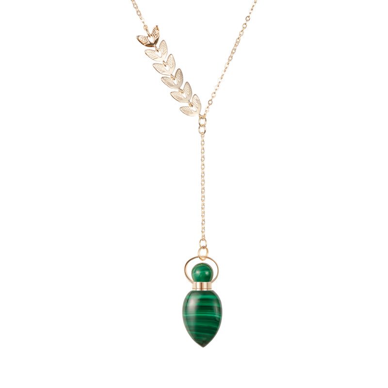AUROUS | Malachite Sterling Silver Necklace