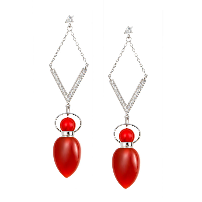 SHALA | Carnelian Sterling Silver Earrings