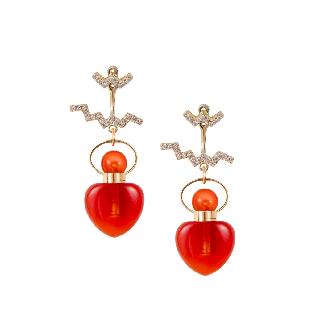 AGLOW | Carnelian Earrings