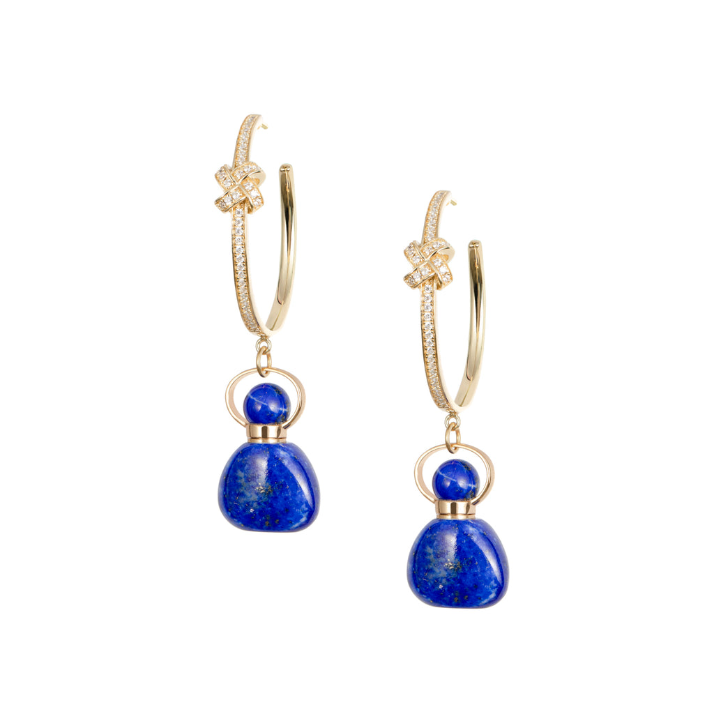 MUSA | Lapis Lazuli Sterling Silver Earrings