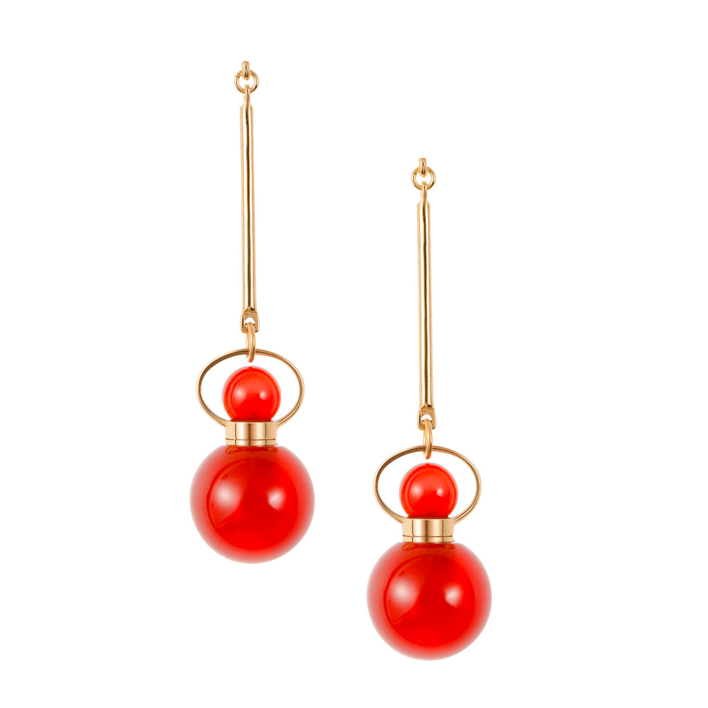 BESPOKE | Red Carnelian Earrings