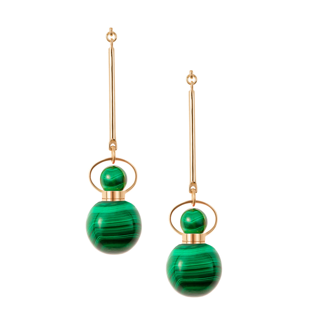 TENACITY | Malachite Earrings