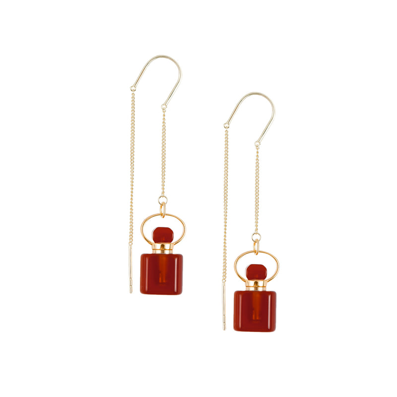 Sanguine | Red Carnelian Earrings