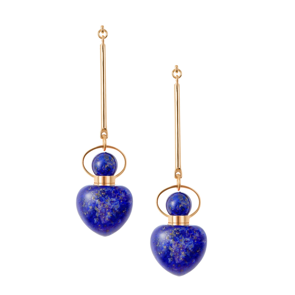 LUNA | Lapis Lazuli Sterling Silver Earrings