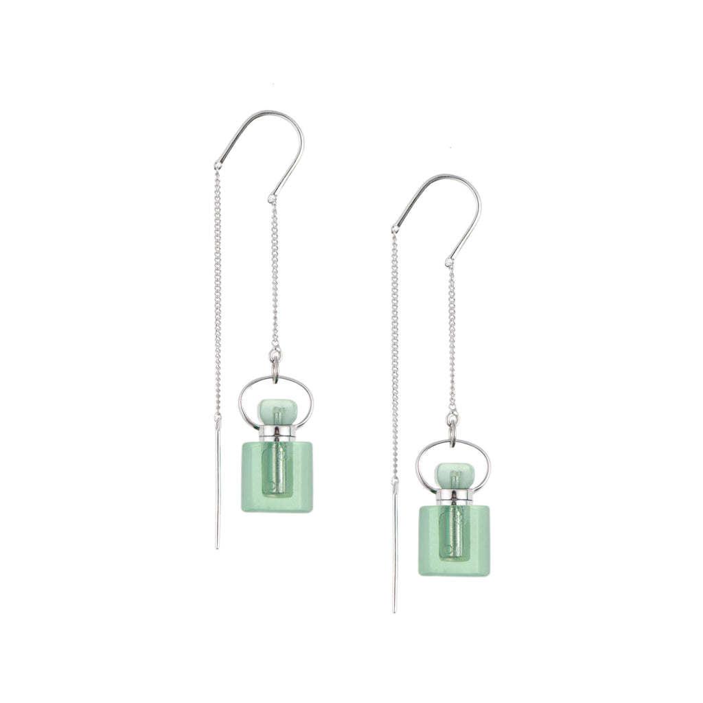VITALITY | 925 Silver Green Fluorite Earrings