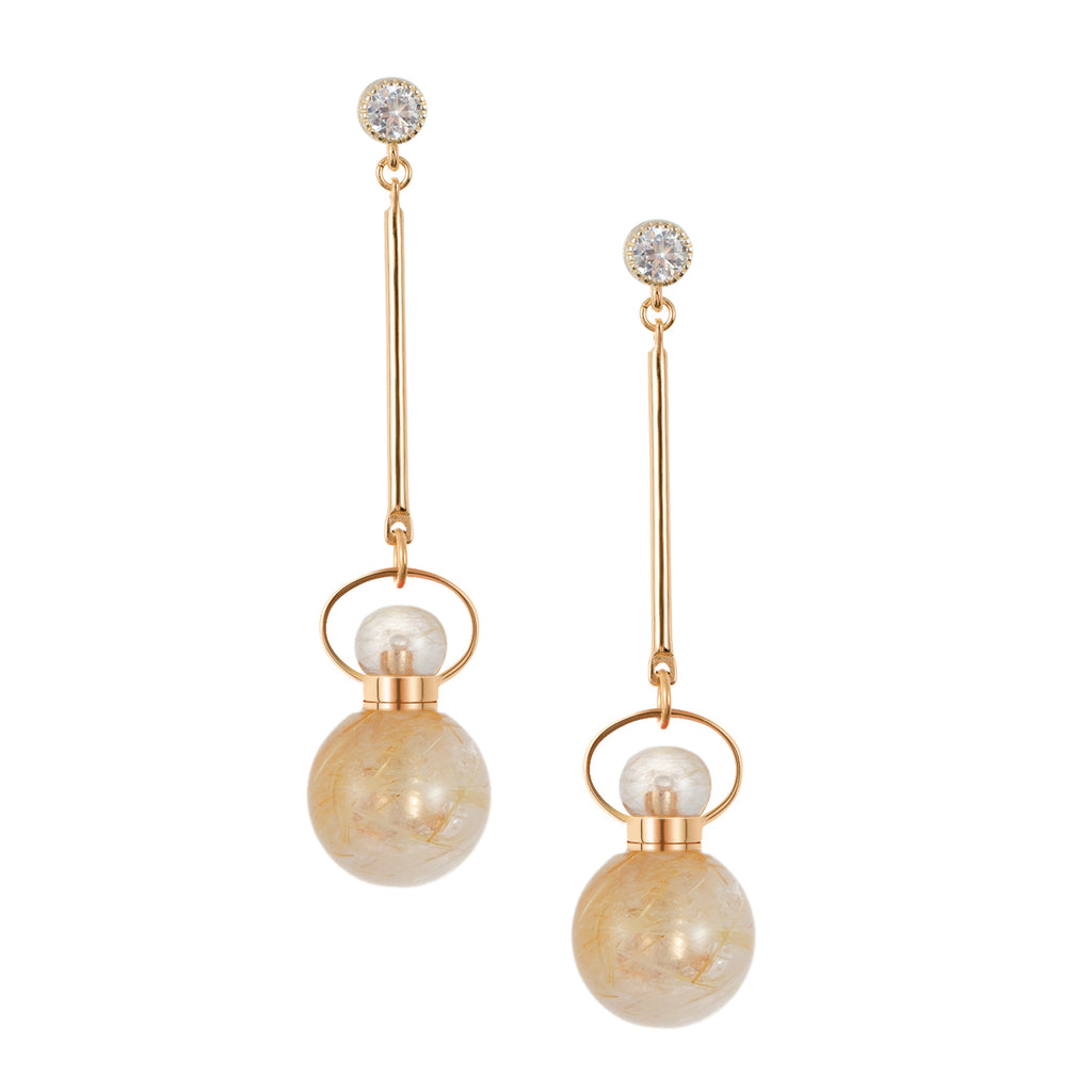 APPARENT | Golden Rutilated Quartz Earrings