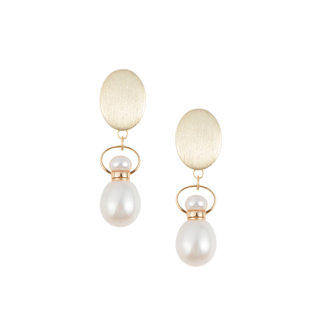 AURIC | Pearl Sterling Silver Earrings