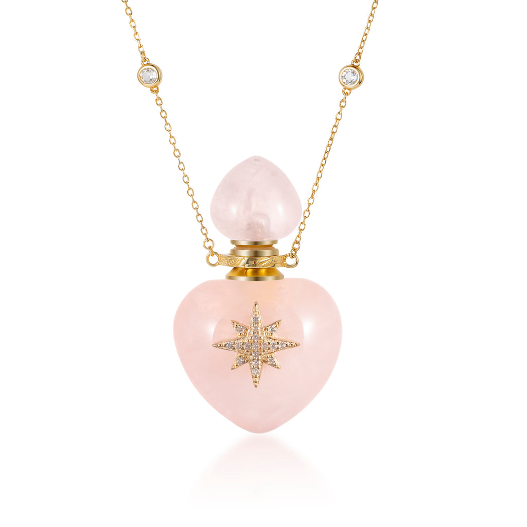 BIRR | Rose Quartz Gold Plated Necklace
